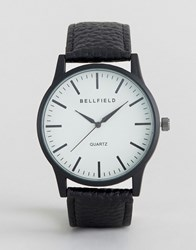 Bellfield Black Watch With Round White Dial