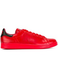 Raf Simons Classic Lace Up Sneakers Red