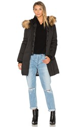 Soia And Kyo Salma Coat With Asiatic Raccoon Fur Trimin Black