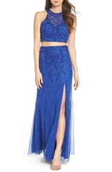 Sean Collection Women's Mesh Two Piece Gown