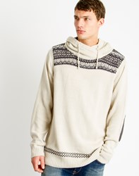 Only And Sons Mens High Neck Hoodie Cream