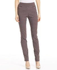 Charter Club Printed Pull On Skinny Pants