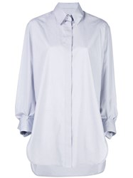 The Row Long Concealed Placket Shirt White