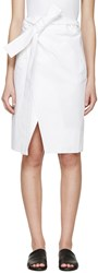 Each X Other White Belted Wrap Skirt