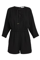 Derek Lam Lace Up Romper Black