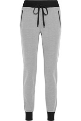 Rag And Bone Lena Cotton Pique Track Pants White