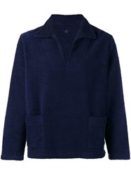 Massimo Piombo Mp Patch Pocket Jumper Blue