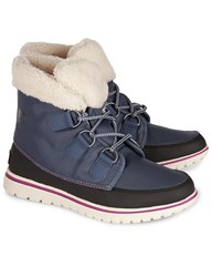 Sorel Dark Mountain Cozy Carnival Fleece Boots Blue