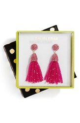 Baublebar Women's Annabelle Boxed Tassel Drop Earrings Bright Pink