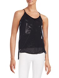 Bailey 44 Barkleys Layered Sequin Tank Black
