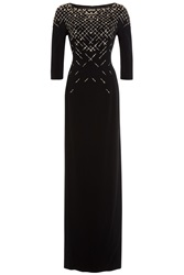 Jenny Packham Embellished Floor Length Gown Black