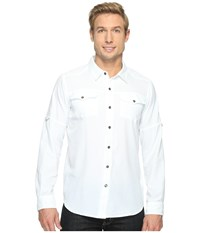 Columbia Pilsner Peak Ii Long Sleeve Shirt White Men's Long Sleeve Button Up