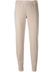 P.A.R.O.S.H. Straight Leg Chinos Nude Neutrals