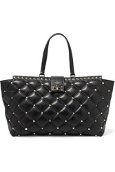 Valentino Garavani Candystud Quilted Leather Tote Black