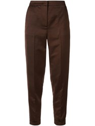 Fabiana Filippi Slim Fit Tailored Trousers Brown