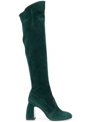 L'autre Chose Over The Knee Boots Green