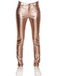 Mes Demoiselles Glitter Crackled Laminated Stretch Pants