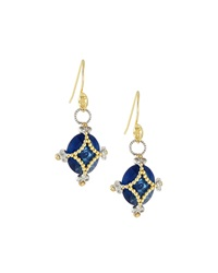 Jude Frances Blue Quartz Charm Drop Earrings