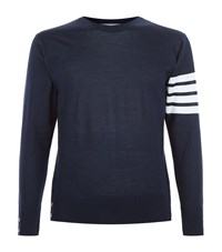 Thom Browne Striped Arm Jumper Male Navy
