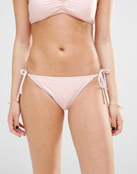 Hot Water Tie Side Bikini Bottoms Cotton Candy Pink