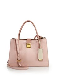 Miu Miu Madras Small Leather Satchel Grey