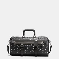 Coach Flag Gym Bag In Pebble Leather With Studs Black Black