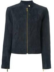 Michael Michael Kors Zipped Bomber Jacket Blue