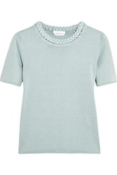 See By Chloe Braided Cotton T Shirt Jade