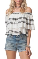Rip Curl 'S Soulmate Off The Shoulder Ruffle Top White