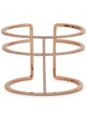 Apm Monaco Rose Gold Plated Triple Band Cuff