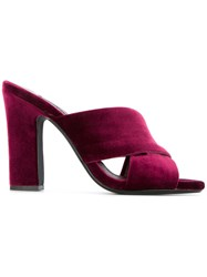 Senso Poppy Mules Red
