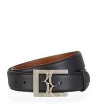 Billionaire Logo Buckle Leather Belt