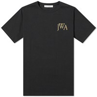 J.W.Anderson Jw Anderson Logo Embroidered Tee Black