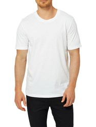 Selected Homme 'The Perfect Tee' Pima Cotton T Shirt White