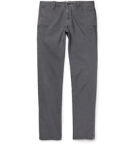 Incotex Slim Fit Stretch Cotton Twill Chinos Gray