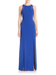 Halston Back Cutout Gown Royal Blue