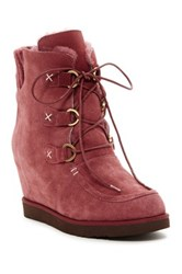 Australia Luxe Collective Dudley Hidden Wedge Genuine Shearling Boot Red