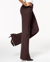 Styleandco. Style And Co. Stretch Wide Leg Pants Espresso Roast
