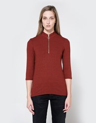 Just Female Rainy Blouse In Oxblood