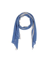 Pinko Black Accessories Oblong Scarves Women Pastel Blue