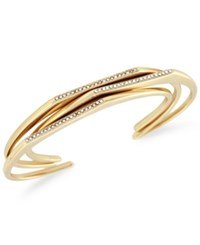 Bcbgeneration Gold Tone 3 Pc. Set Pave Raised Cuff Bangle Bracelets