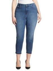Nydj Plus Size Nichelle Frayed Ankle Skinny Jeans Nantes