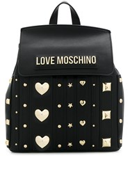 Love Moschino Logo Plaque Embellished Backpack 60