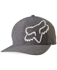 Fox Men's Clouded 3D Embroidered Logo Flexfit Hat Heather Grey