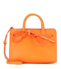 Mansur Gavriel Sun Mini Leather Tote Orange