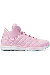 Athletic Propulsion Labs Lusso Quilted Textured Leather High Top Sneakers Pastel Pink