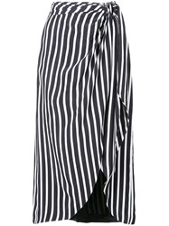Jonathan Simkhai Striped Midi Skirt White