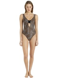 Emiliano Rinaldi Leopard Lycra And Net One Piece Swimsuit