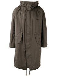 The Reracs Hooded Coat Men Nylon Polyester Vi Green