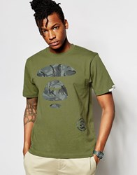 Aape By A Bathing Ape Theme T Shirt Khaki Green